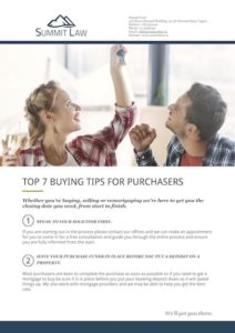 7 Top Tips For Property Purchasers - Summit Law