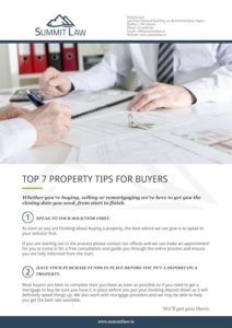 Top 7 Property Tips For Buyers Cover Medium - Summit Law