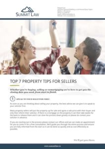 Top 7 Property Tips For Sellers Cover - Summit Law